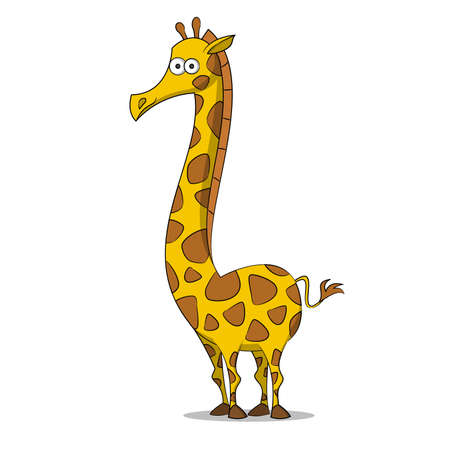 herbivorous: Giraffe. Vector illustration.