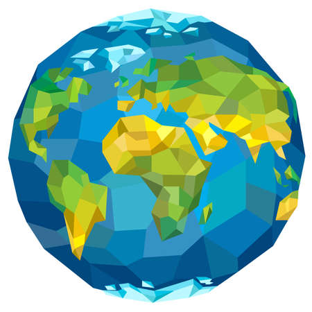 terrestrial: Planet Earth with continents. Vector illustration.