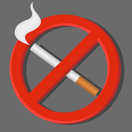 harm: No smoking sign. Vector illustration. Illustration