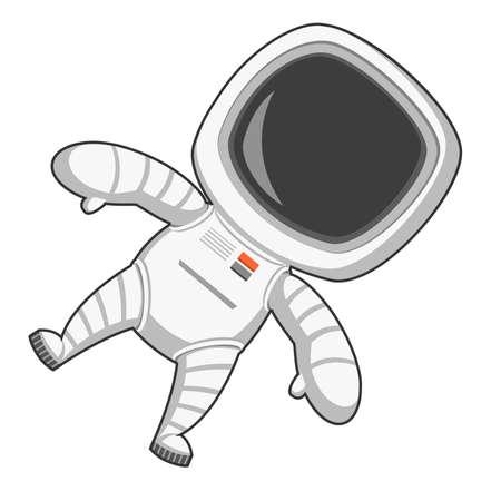 zero gravity: Astronauta in assenza di gravit�. Illustrazione vettoriale.