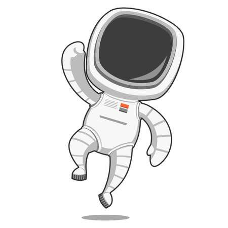 astronautics: Astronaut rejoices. Vector illustration. Illustration