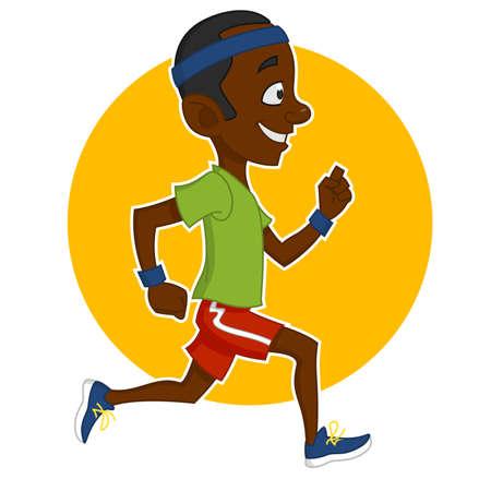 hardy: running man. Vector illustration. Illustration