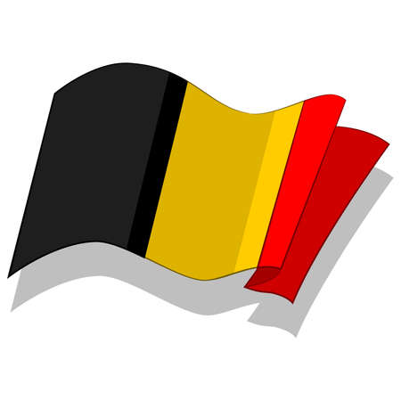 벨기에의 국기. 벡터.