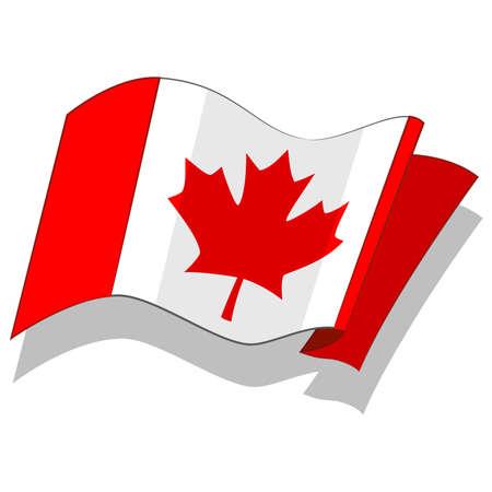 캐나다의 국기. 벡터.