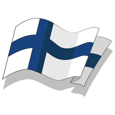 핀란드의 국기. 벡터. 일러스트