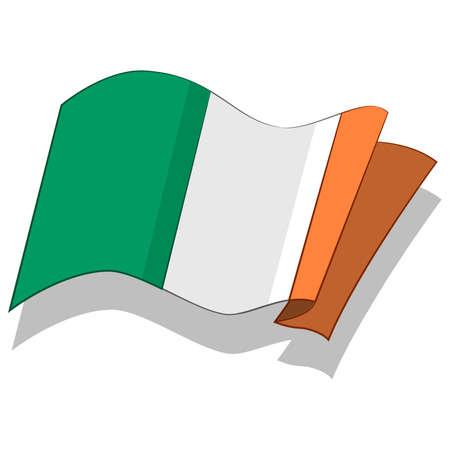 아일랜드의 국기입니다. 벡터.