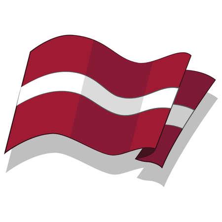 라트비아의 국기입니다. 벡터.