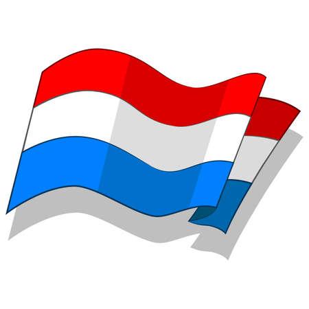 룩셈부르크의 국기. 벡터.
