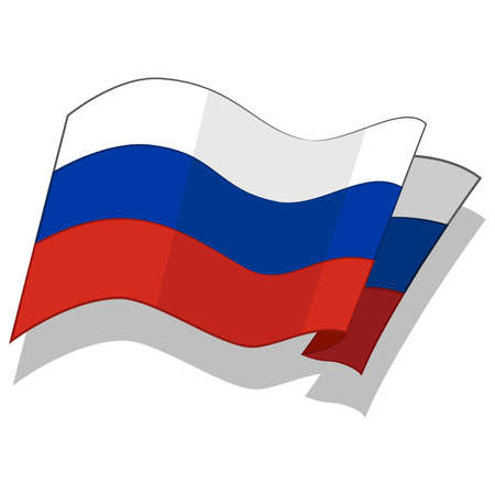 federation: Flag of the Russian Federation. Vector.