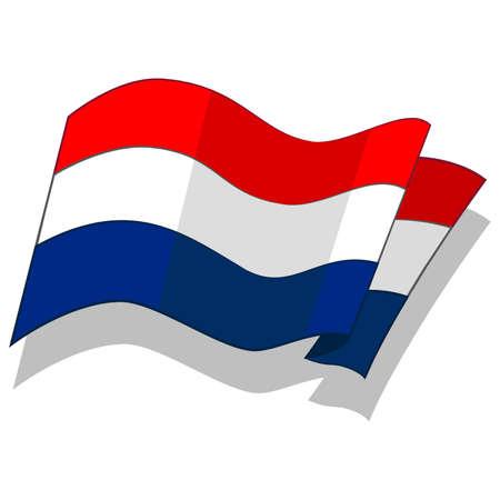 네덜란드의 국기. 벡터.