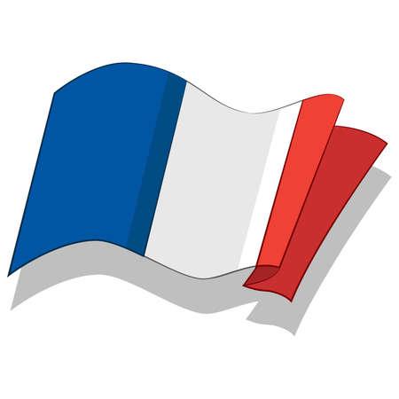 프랑스의 국기입니다. 벡터 일러스트