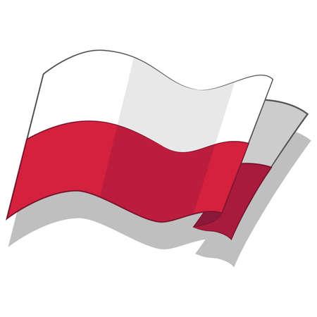 bandera de polonia: Bandera polaca. Vector.