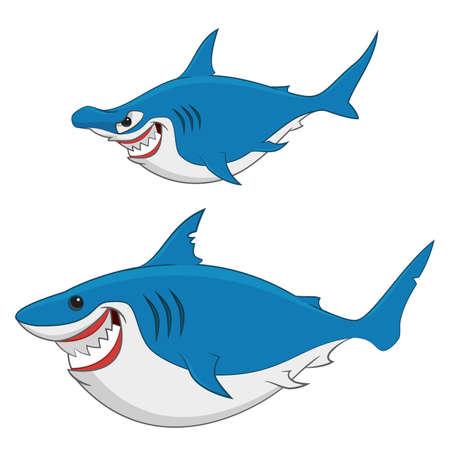 sharks. Vector.