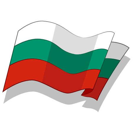 불가리아의 국기. 벡터.