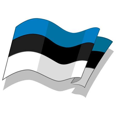 flag of Estonia. Vector.