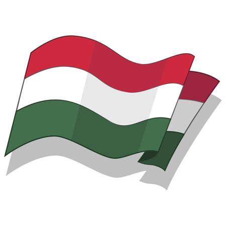 헝가리의 국기입니다. 벡터.