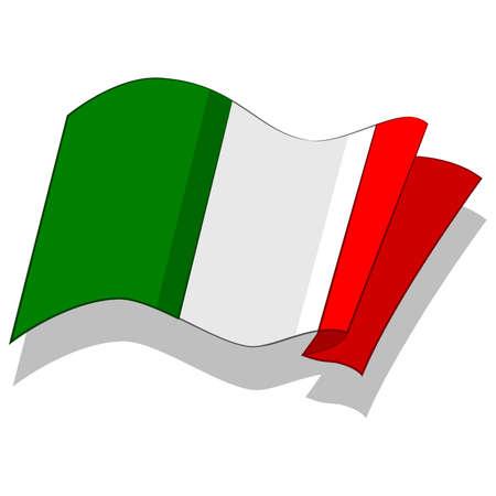 이탈리아의 국기입니다. 벡터. 일러스트