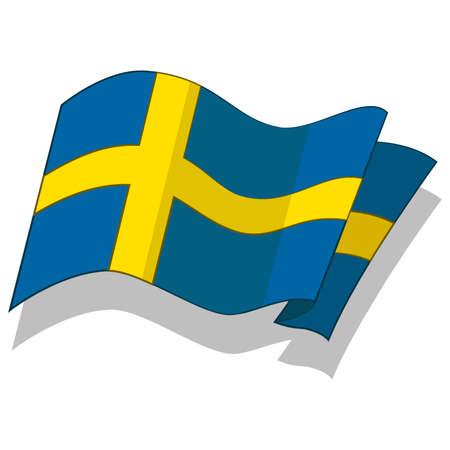scandinavia: flag of Sweden. Vector.