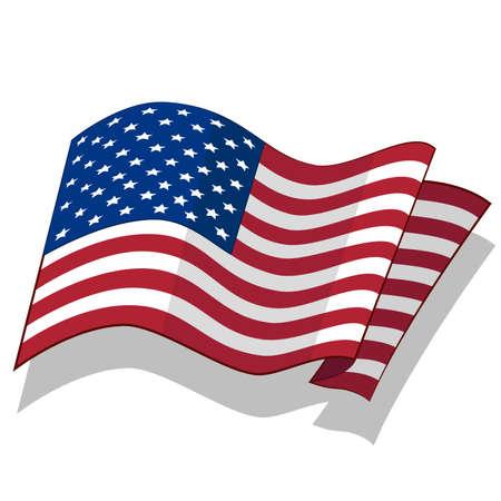 미국의 국기. 벡터. 일러스트
