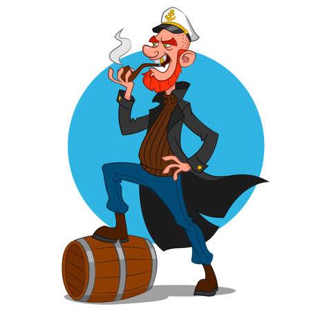 anchor man: Sea dog. Vector illustration.