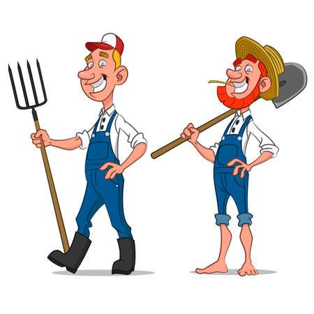 farmers. Vector illustration. Ilustração