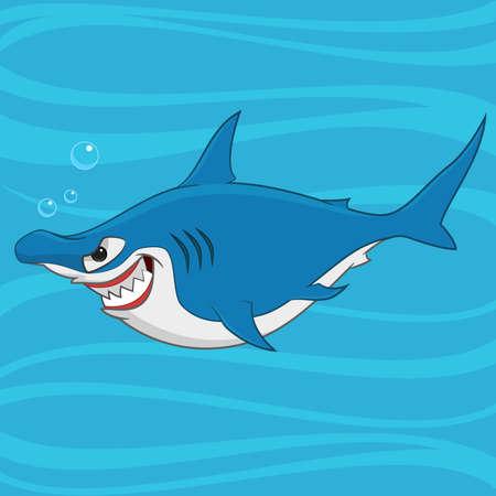 hammerhead shark. Vector illustration. Ilustração
