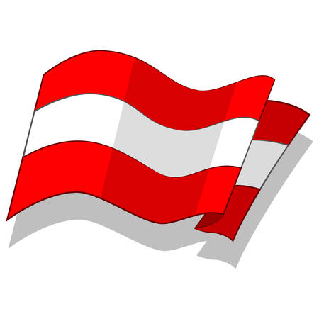 오스트리아의 국기입니다. 벡터.