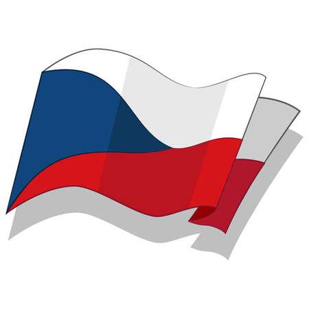 체코 공화국의 국기입니다. 벡터