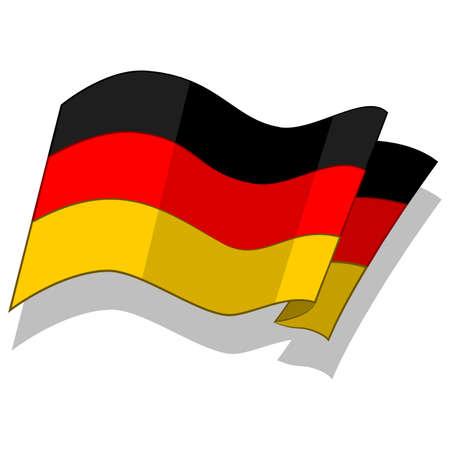 독일의 국기입니다. 벡터. 일러스트