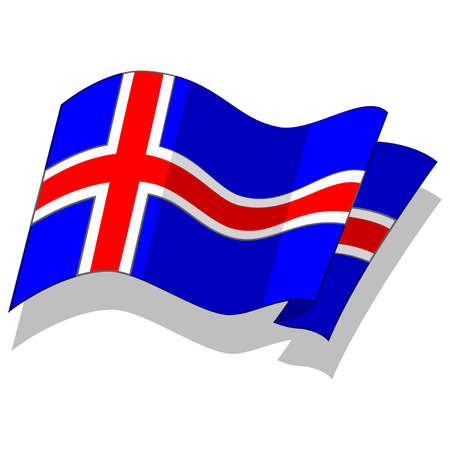 iceland: flag of Iceland. Vector.