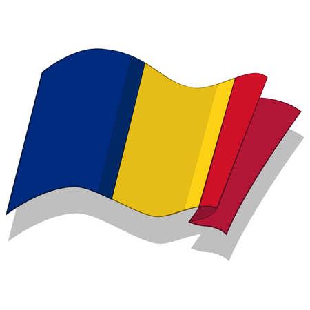 flag of Romania. Vector. Ilustração