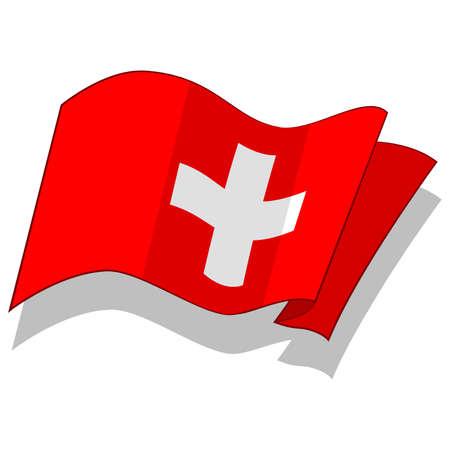 스위스의 국기. 벡터