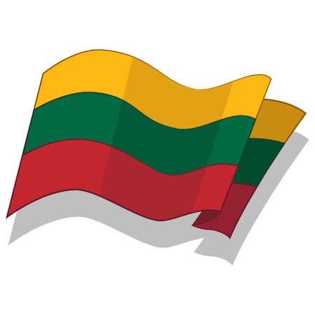 리투아니아어 플래그. 벡터.