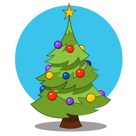 크리스마스 트리. 일러스트