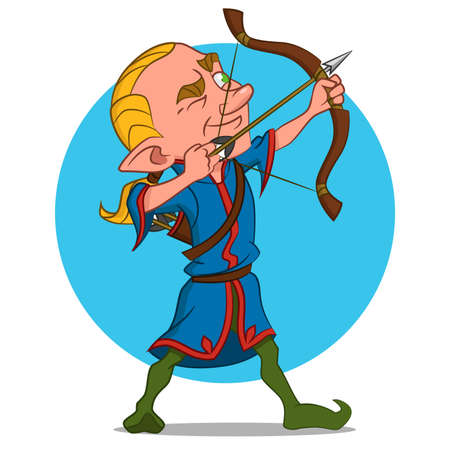 elven: archer Illustration
