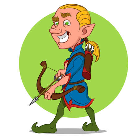 Elf with bow and arrow. Imagens - 46712276