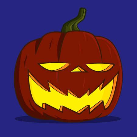 funny pumpkin lantern.