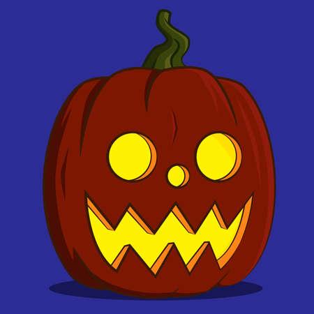 pumpkin lantern. Vector illustration. Ilustração