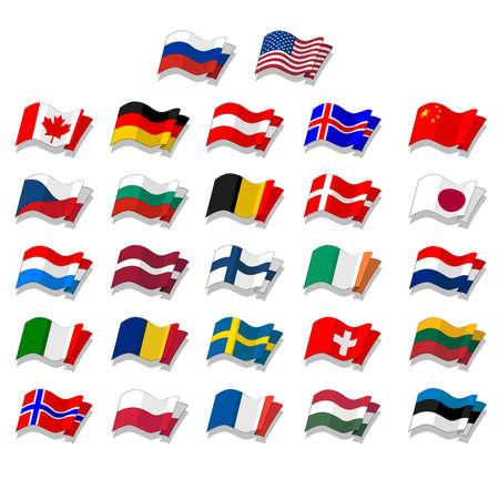 bandera de suecia: conjunto de banderas.