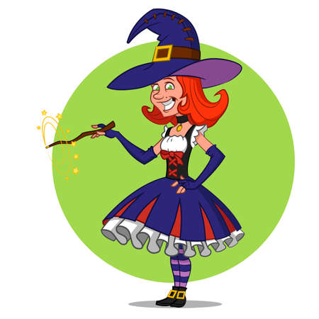 pretty witch.  Ilustração