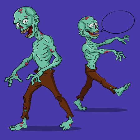 zombie: zombie attack. Illustration