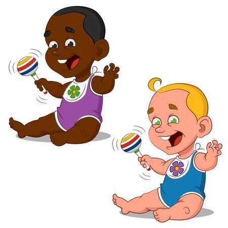 clip art people: babies.  Illustration