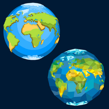 지구 행성. 일러스트