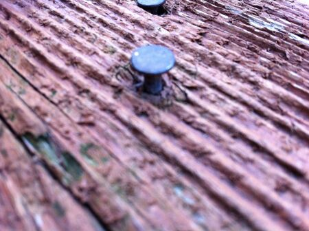 nail in wood Stok Fotoğraf - 21334403