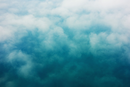 cumulonimbus: View from the airplane of a amazing cumulonimbus background with copy space for your text message or promotional content, advertising background