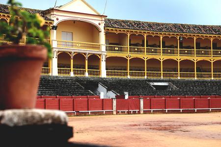bullfighting: Little Bullfighting arena in Spain, beautiful bull arena