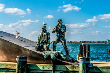 merchant: Detail of American Merchant Mariners Memorial in New York City