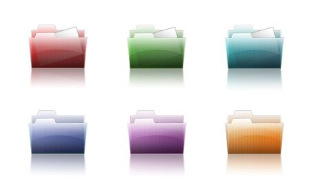 6 different colorful folder icons Stock Photo - 6375350