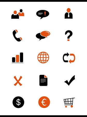 unaccepted: orange icons set (part 2)
