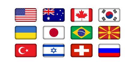 flags world: banderas nacionales del mundo  Foto de archivo